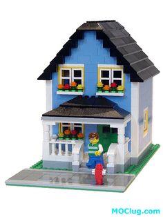 LEGO MOC - Light Blue House by MOClug, via Flickr