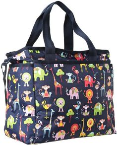 LeSportsac Women's Ryan Baby Bag Zoo Cute Size 13 inch x inch x 7 inch, Multicolor Baby Diaper Bags, Travel Tote, Nylon Bag, Changing Pad, Baby Gear, Shoulder Strap, Cute, Bottles, Houses
