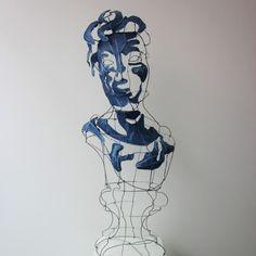 Madame M, portrait de toile et d'acier par le designer plasticien Clément Calaciura