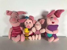 Disney Piglet Lot of 4 Plush Stuffed Toy Doll Winnie the Pooh Friends #Disney Stuffed Toy, Stuffed Animals, Doll Toys, Dolls, Winnie The Pooh Friends, Wonderful Things, Have Fun, Plush, Teddy Bear