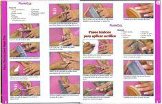 Paso a Paso: Cómo colocar uñas acrílicas Ale, Tips, Nail Designs, Crystals, Hair Beauty, Gel Nail, Nail Art, Step By Step, Bags