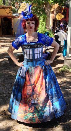 TARDIS Renaissance dress