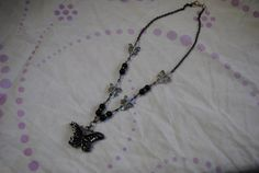 Butterfly charm necklace by Michellesdream on Etsy, $25.00
