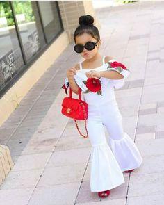 New Fashion Sleeveless Wide Leg Romper Cute Kids Fashion, Baby Girl Fashion, Outfits Niños, Kids Outfits, Little Girl Dresses, Girls Dresses, Indian Fashion Trends, Kids Frocks, Cute Baby Girl