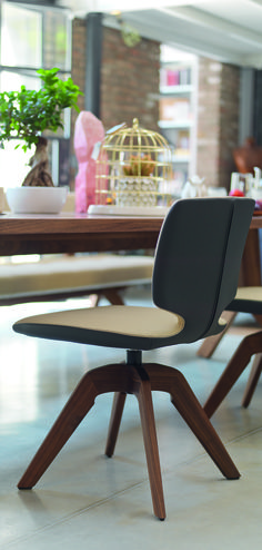 team 7 aye swivel chair fabric leather dining