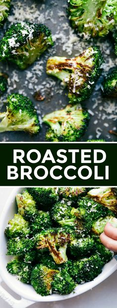 Perfectly roasted broccoli with crisp & caramelized edges. You'll be amazed with how just a few ingredients & simple steps can create such a delicious dish. Crack Broccoli, Roasted Broccoli And Carrots, Broccoli Cauliflower, Side Recipes, Great Recipes, Tasty Dishes, Food Dishes