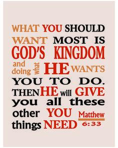 Matew 6:33