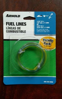 "Arnold Fuel Line Kit (1/16"" I.D x 1/8"" O.D x 1' And 3/32"" I.D x 3/16"" O.D x 1') #Arnold"