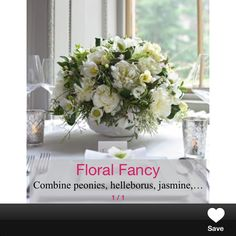 Floral table centres white