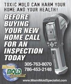 That's Right, some strains of #mold can be very harmful to your health due to the spores they create when they reproduce and release, as well as toxins some of which can cause horrific problems with your health.  Did you know that there are doctors that specialize in nothing but purging people's systems of the toxins absorbed and inhaled from toxic mold exposure?  If you suspect mold, please give Miami Mold Specialist a Call to schedule a  high tech mold inspection service. Call-305-763-8070