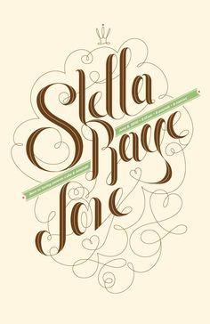 """""""Stella Raye Love"""" custom type poster for newborn's room."""