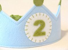 White Circle Your Age Birthday Crown by ohsewsweetcreations