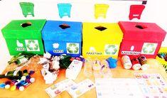 Νίκου Βασιλική Νηπιαγωγείο Δημιουργίας...: Ανακύκλωση-Η ζωή χωρίς σκουπίδια:Μείωση -επαναχρησ... Crafts To Make, Crafts For Kids, Trash Bins, Earth Day, Usb Flash Drive, Improve Yourself, Recycling, Preschool, Classroom