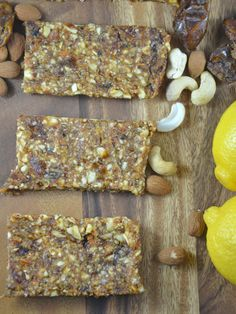 4-Ingredient Homemade Lemon Pie Larabars! Vegan, gluten-free and paleo. http://www.runningonrealfood.com/lemon-pie-larabars-vegan-paleo-gluten-free/