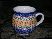 Polish pottery bubble mug