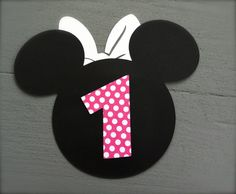 Handmade Minnie Mouse Invitations with Number by GabbyCatCreations