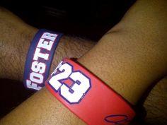Arian foster wristbands.