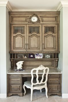 Kitchen work center, built in desk. Acquisitions Cabinetry