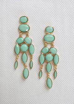 Dangly Mint Earrings #mint #gold #earrings #kieus