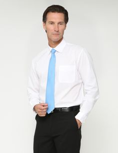 long-sleeved crisp whiteshirt in a classic fit, features twin back pleats and a chest pocket. for groom to wear with the gold tie or a turquoise tie.  $21 NZD