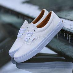 half off 24a8c 8ecfd All white Vans Era in supple premium leather Tenis, Moda Masculina,  Zapatillas, Todas