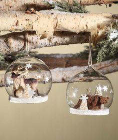 Woodland Snow Globe Ornaments
