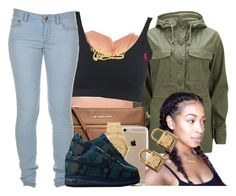 """""""Army Green"""" by polyvoreitems5 ❤ liked on Polyvore featuring Current/Elliott, MICHAEL Michael Kors, Marc by Marc Jacobs, Speck, Rolex and Michael Kors"""