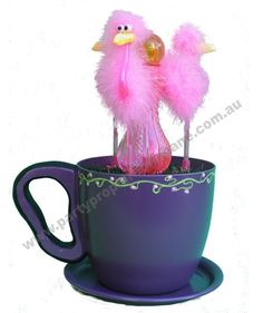 Flamingo Tea Cup - Props by Party Prop Hire