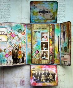 Fabulous Folio Interior by Andrea for the Simon Says Stamp Monday challenge (Anything Goes)