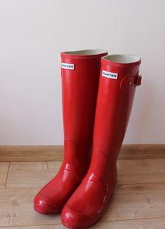 Kup mój przedmiot na #vintedpl http://www.vinted.pl/damskie-obuwie/kalosze/14233764-hunter-czerwone-kalosze-gumowce-wysokie-rozmiar-39-original-gloss-tall