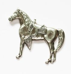 Hey, I found this really awesome Etsy listing at https://www.etsy.com/listing/239732083/sterling-western-horse-with-saddle