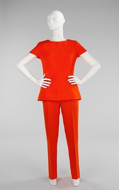Pantsuit André Courrèges  (French, born 1923) Date: ca. 1968 Culture: French Medium: wool