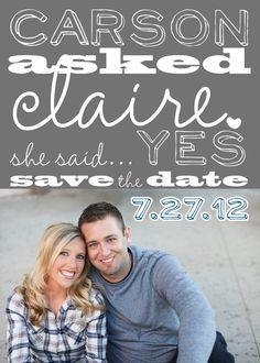 Save the Date Magnets Proposed Love Design by PARTYBOXDESIGN
