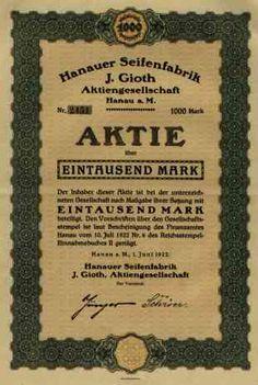 Scripophilie – vom Sammeln historischer Wertpapiere   Hanauer Seifenfabrik