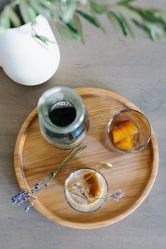 Iced Lavender and Vanilla Almond Milk Latté