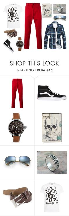 """""""Go to work man"""" by przemek-krupa on Polyvore featuring Dsquared2, Vans, Bell & Ross, Alexander McQueen, Ray-Ban, HUGO, PS Paul Smith, men's fashion i menswear"""
