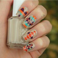 Aztec Nails ♡  Pendleton style