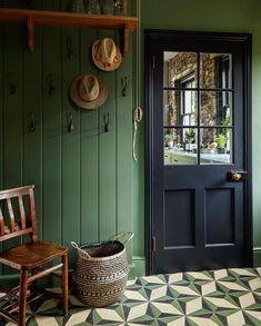 Into The West, Encaustic Tile, H&m Home, Farrow Ball, Wall Colors, Paint Colors, Mudroom, Home Interior Design, Sweet Home