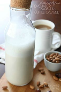 Dairy-Free Homemade Coffee Creamer. Super easy, delicious, and only 15 calories per serving! | www.happyfoodhealthylife.com