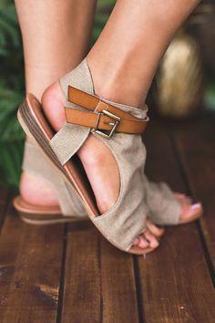 0eba28666d2a6 Walk And Talk Buckle Strap Detail Sandal (Sand)