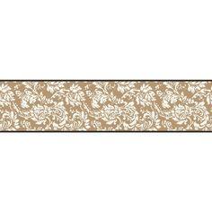 Bistro 750 Damask Wallpaper Border, Metallic Gold