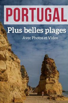 Découvrez en photos et video les plus belles plages du Portugal - Algarve et ailleurs - des falaises à couper le souffle, des formations rocheuses de toutes formes et des sables entre doré et blanc |  Portugal Paysage | Portugal Plage | Algarve Portugal | Algarve Plage | Portugal voyage