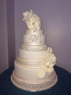 Confectionery with crystal bridal belt by Who Made The Cake