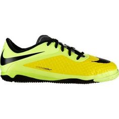 huge discount a91ae b1d67 Nike Jr Hypervenom Phelon IC YellowSilver Youth Indoor Soccer Shoes