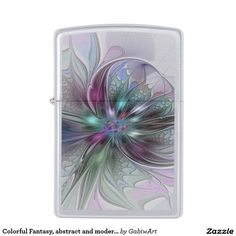 Colorful Fantasy, abstract and modern Fractal Art Zippo Lighter