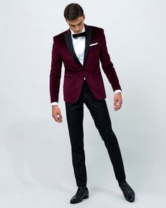 wedding suit on sale at reasonable prices, buy 2017 Airtailors Velvet Wine Red Peak Lapel Tuxedo/wedding Suit for men /Groom wear tuxedo jakcet only from mobile site on Aliexpress Now! Red Tuxedo, Groom Tuxedo, Tuxedo For Men, Tuxedo Suit, Women Tuxedo, Classic Tuxedo, Tuxedo Dress, Groomsmen Suits, Mens Suits