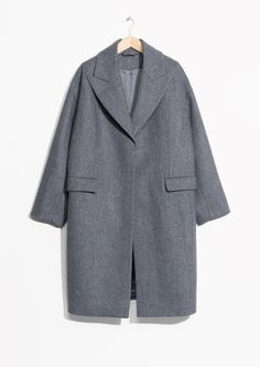 & Other Stories | Wool Blend Oversized Coat in Grey