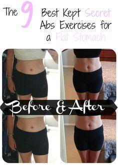 The 9 Best Kept Secret Abs Exercises for a Flat Stomach | Deb's Wonderland