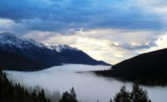 I love when nature gives you that mystical feel.  Photo by Louise Pratt at Yoho National Park, British Columbia