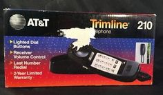 At T 210 Trimline Corded Basic Landline Home Phone 1 Handset Black New | eBay